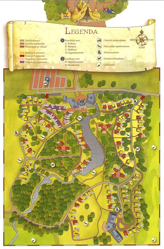 Plattegrond Vakantiepark Bosrijk